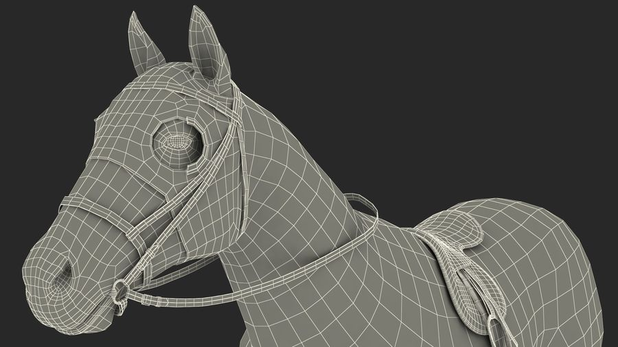 Bay Racehorse royalty-free 3d model - Preview no. 29
