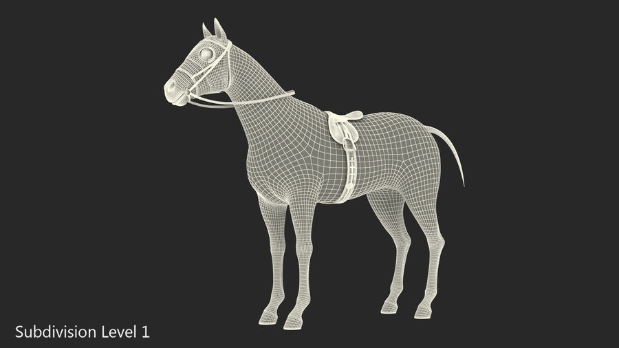 Bay Racehorse royalty-free 3d model - Preview no. 20