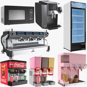 Large Cafe Appliances Collection 3d model