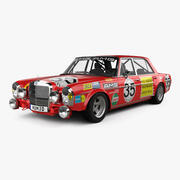 Mercedes-Benz 300 SEL AMG Red Pig 1969 года 3d model