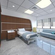 Innenraum des Krankenzimmers 3d model
