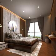 Realistic Bedroom Interior 3d model