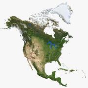 North America Continent v2 3d model
