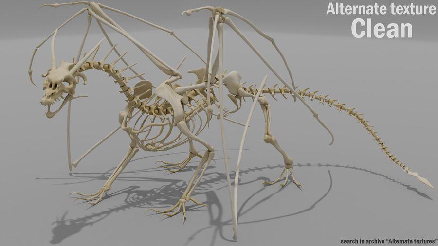 Bone Dragon royalty-free 3d model - Preview no. 19