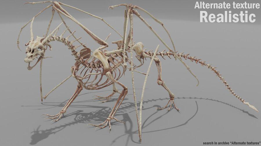Bone Dragon royalty-free 3d model - Preview no. 21