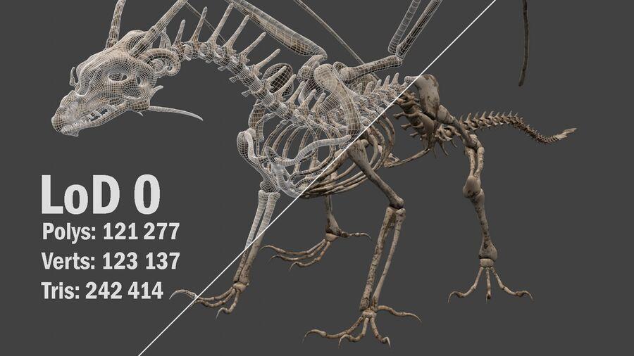 Bone Dragon royalty-free 3d model - Preview no. 13