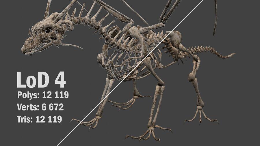 Bone Dragon royalty-free 3d model - Preview no. 17
