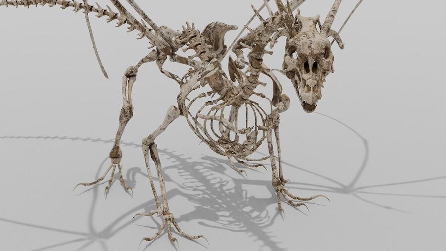 Bone Dragon royalty-free 3d model - Preview no. 3
