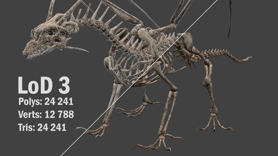 Bone Dragon royalty-free 3d model - Preview no. 16