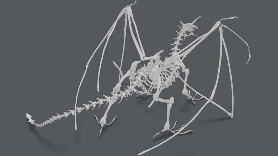 Bone Dragon royalty-free 3d model - Preview no. 23