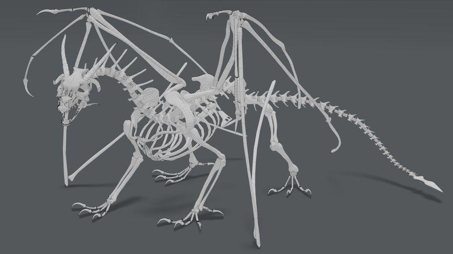 Bone Dragon royalty-free 3d model - Preview no. 22