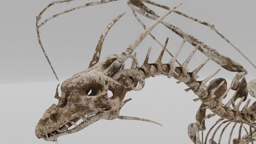 Bone Dragon royalty-free 3d model - Preview no. 2