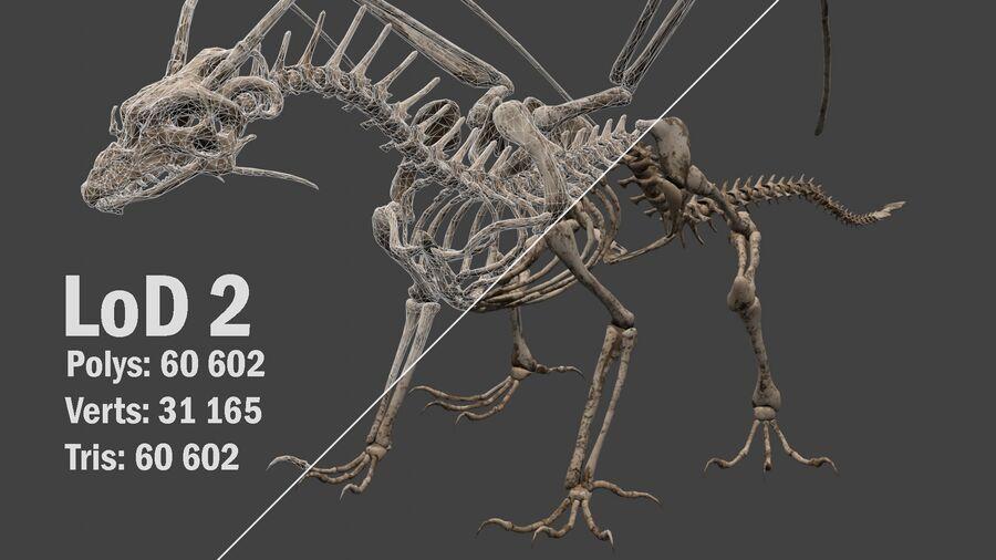 Bone Dragon royalty-free 3d model - Preview no. 15