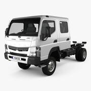 Mitsubishi Fuso Canter (FG) Chassisbil med bred besättning 2016 3d model