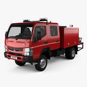 Mitsubishi Fuso Canter (FG) Brandbil med bred besättning 2016 3d model
