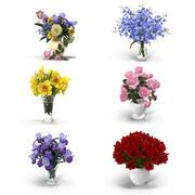 Bouquet Flowers 3d model