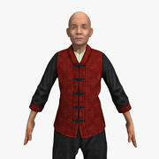 Kung-Fu Master (opgetuigd) 3d model