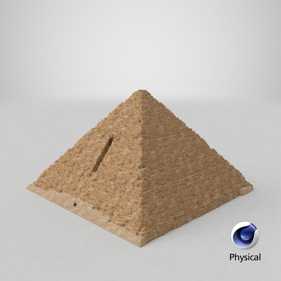 Menkaure-pyramiden royalty-free 3d model - Preview no. 4