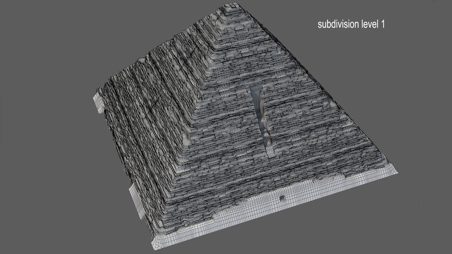 Menkaure-pyramiden royalty-free 3d model - Preview no. 15