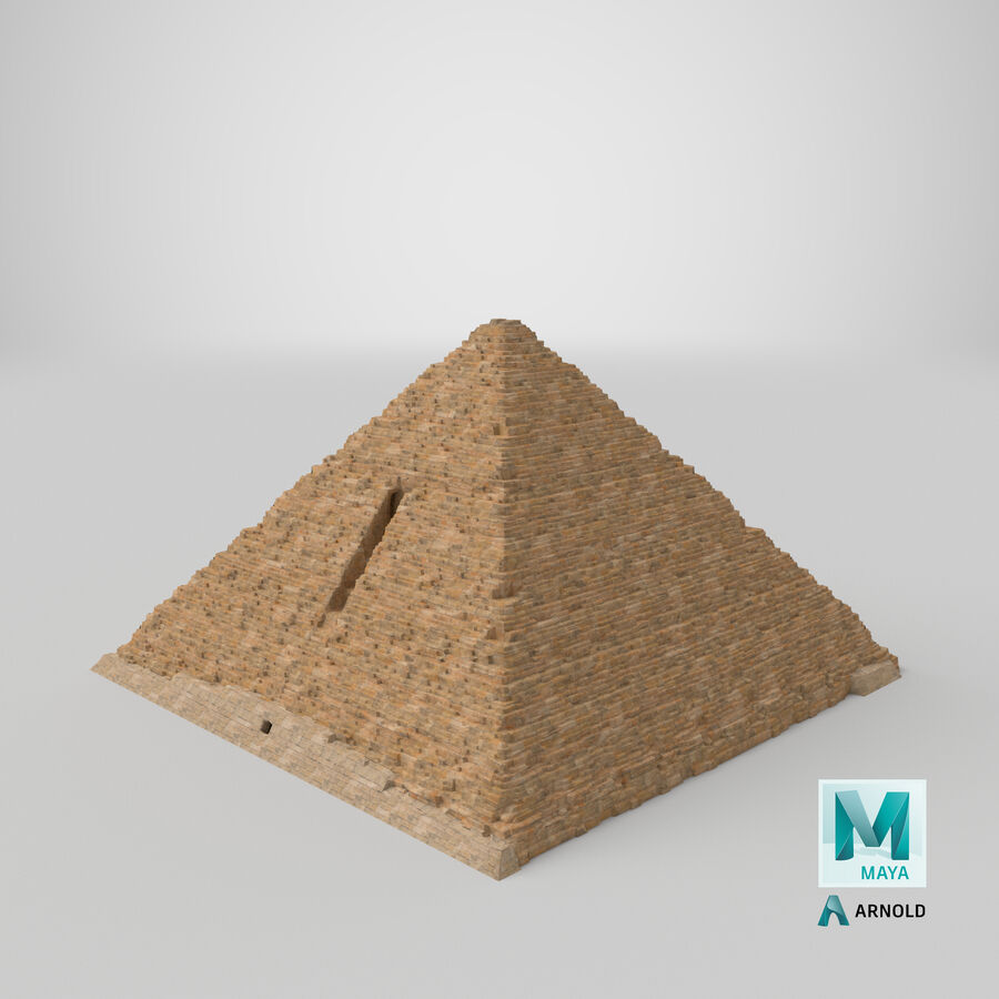 Menkaure-pyramiden royalty-free 3d model - Preview no. 11