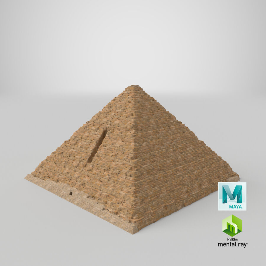 Menkaure-pyramiden royalty-free 3d model - Preview no. 12