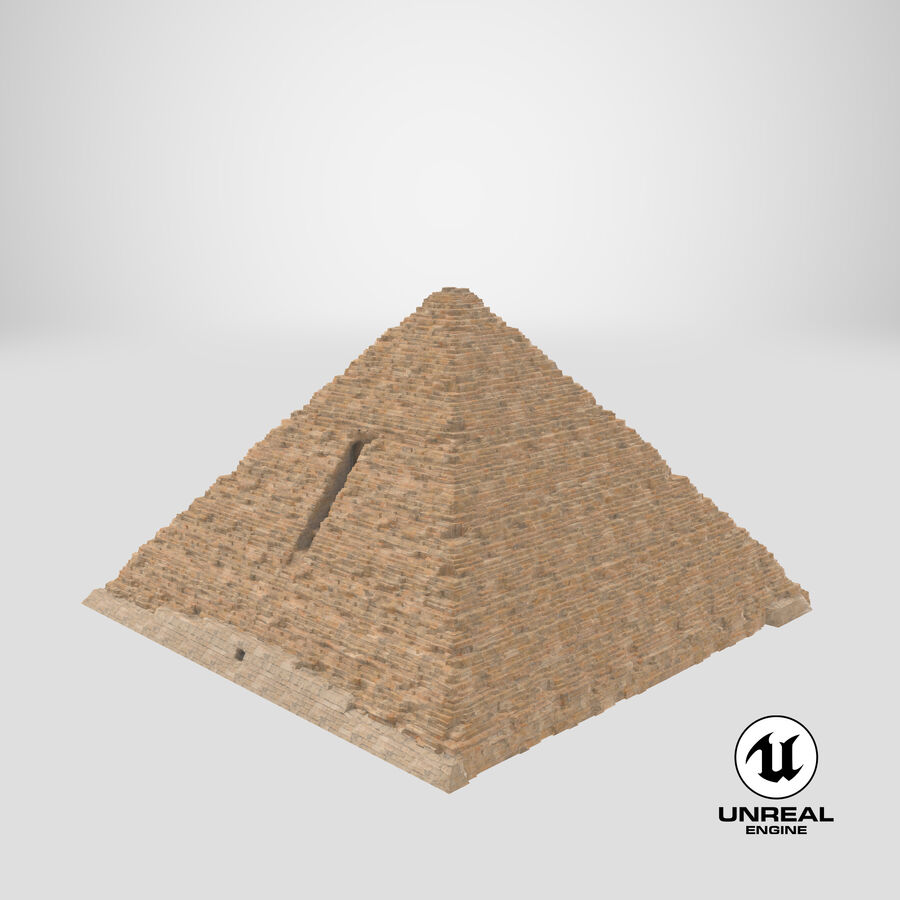 Menkaure-pyramiden royalty-free 3d model - Preview no. 7