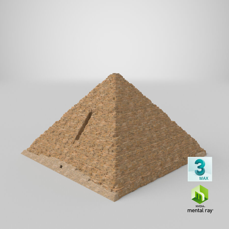 Menkaure-pyramiden royalty-free 3d model - Preview no. 9