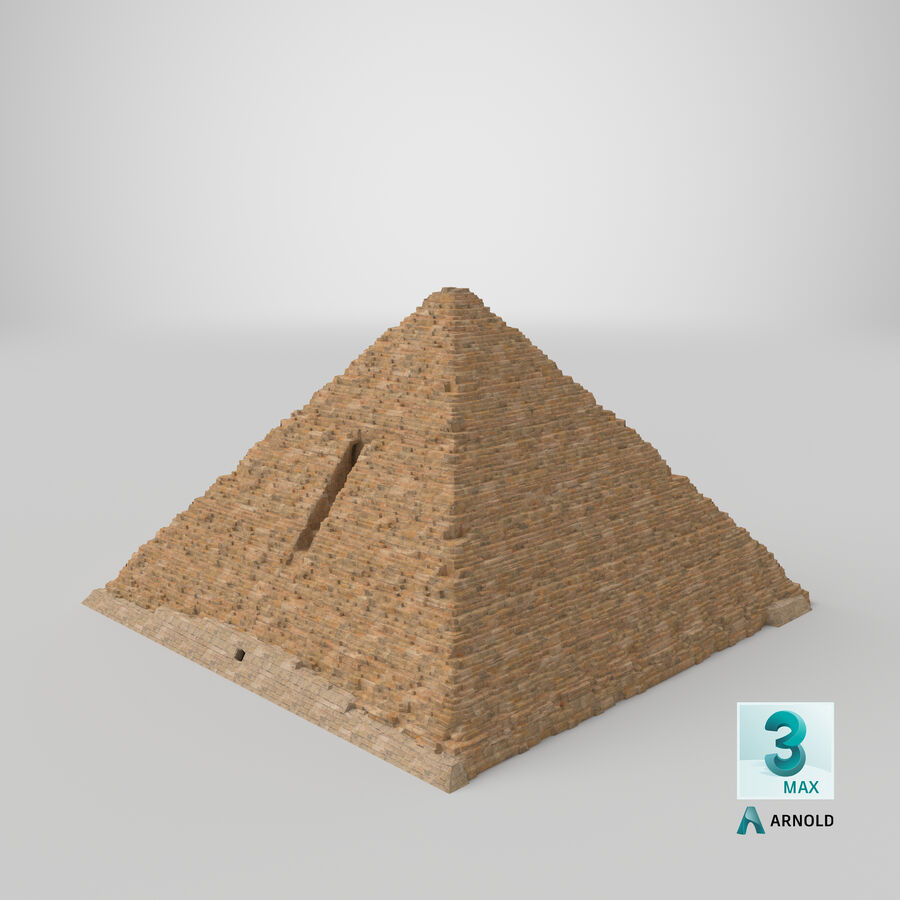 Menkaure-pyramiden royalty-free 3d model - Preview no. 8