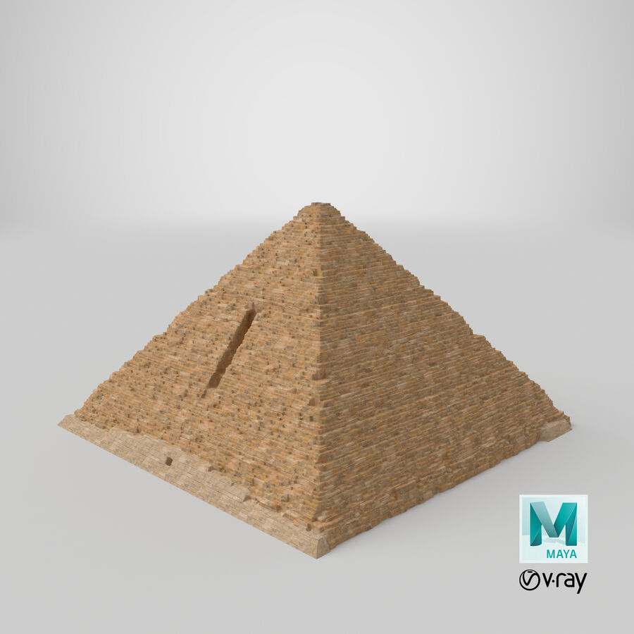 Menkaure-pyramiden royalty-free 3d model - Preview no. 32