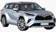 Toyota Highlander 2020 года 3d model