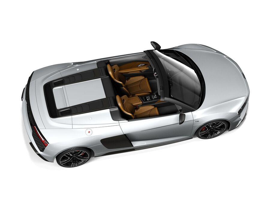 Audi R8 Spyder 2021 royalty-free 3d model - Preview no. 8