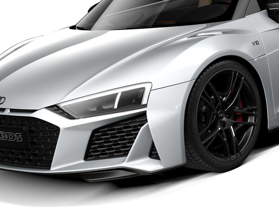 Audi R8 Spyder 2021 royalty-free 3d model - Preview no. 3