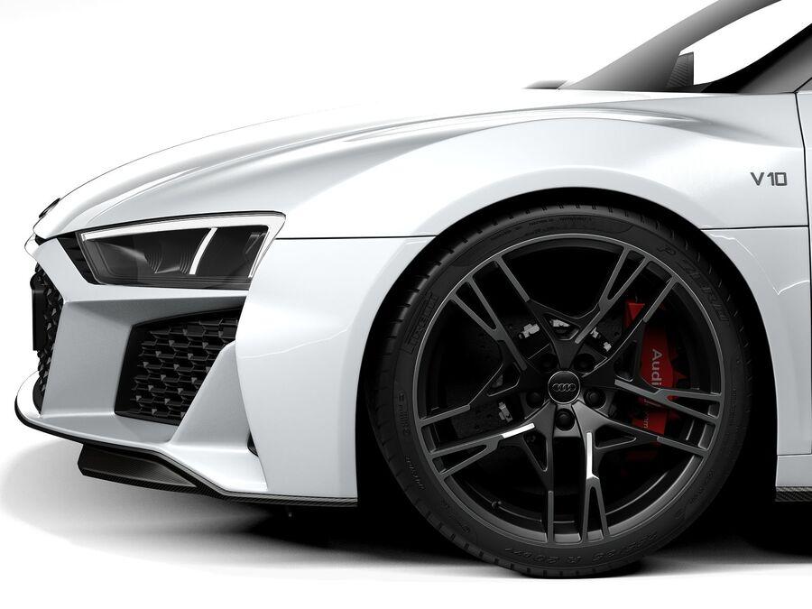 Audi R8 Spyder 2021 royalty-free 3d model - Preview no. 11