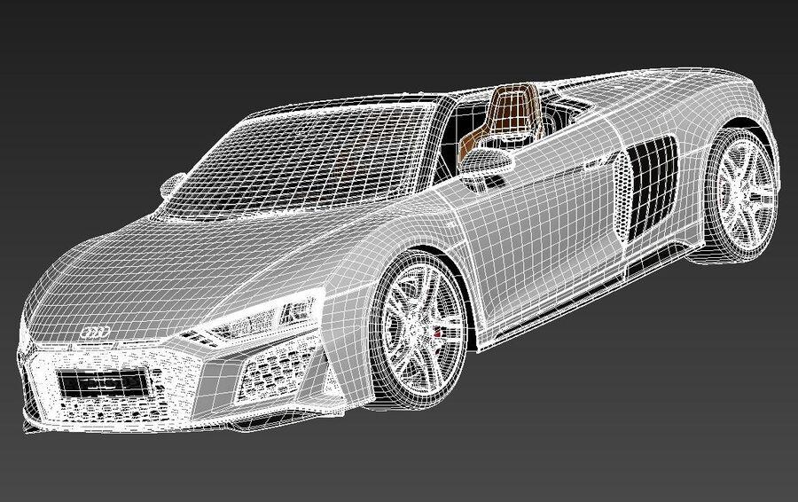 Audi R8 Spyder 2021 royalty-free 3d model - Preview no. 13