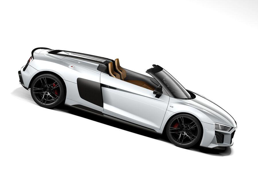 Audi R8 Spyder 2021 royalty-free 3d model - Preview no. 7