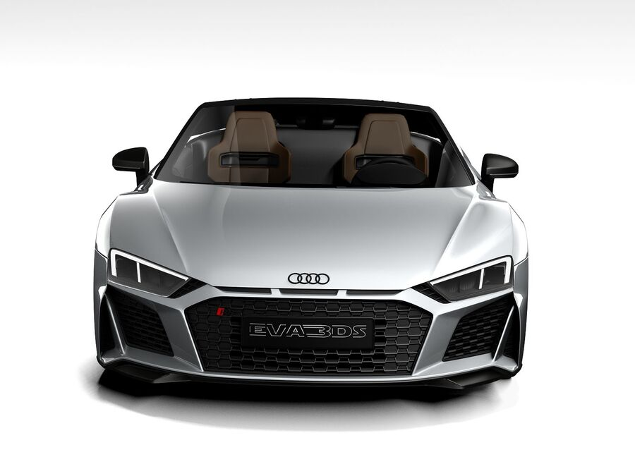 Audi R8 Spyder 2021 royalty-free 3d model - Preview no. 10