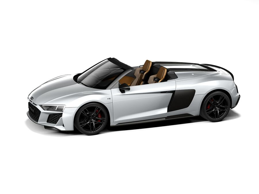 Audi R8 Spyder 2021 royalty-free 3d model - Preview no. 12