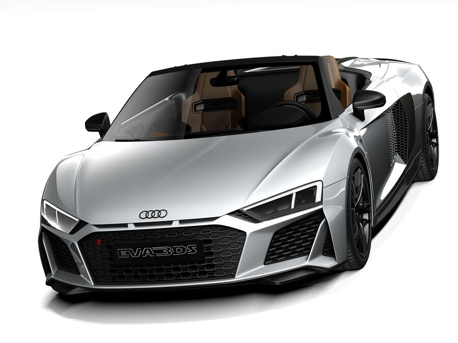 Audi R8 Spyder 2021 royalty-free 3d model - Preview no. 2