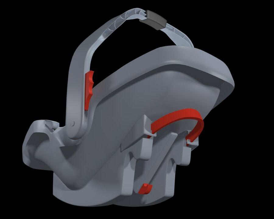 spädbarn i barnstol royalty-free 3d model - Preview no. 18
