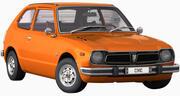 Honda Civic 1975 года 3d model
