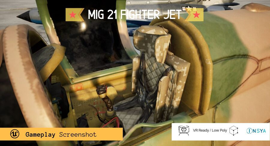 MiG 21-Rigged & Animated-인테리어 포함-M1 royalty-free 3d model - Preview no. 5