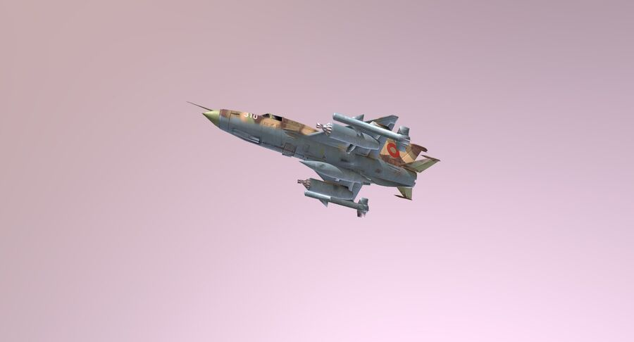 MiG 21-Rigged & Animated-인테리어 포함-M1 royalty-free 3d model - Preview no. 7