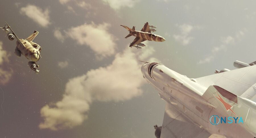 MiG 21-Rigged & Animated-인테리어 포함-M1 royalty-free 3d model - Preview no. 2