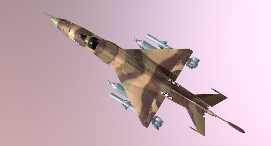 MiG 21-Rigged & Animated-인테리어 포함-M1 royalty-free 3d model - Preview no. 10