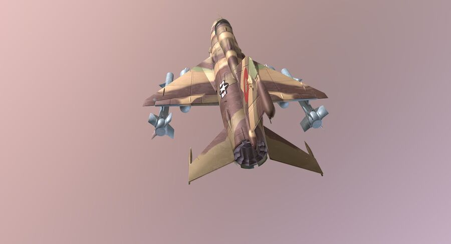 MiG 21-Rigged & Animated-인테리어 포함-M1 royalty-free 3d model - Preview no. 9
