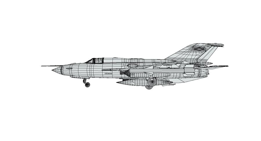 MiG 21-Rigged & Animated-인테리어 포함-M1 royalty-free 3d model - Preview no. 15