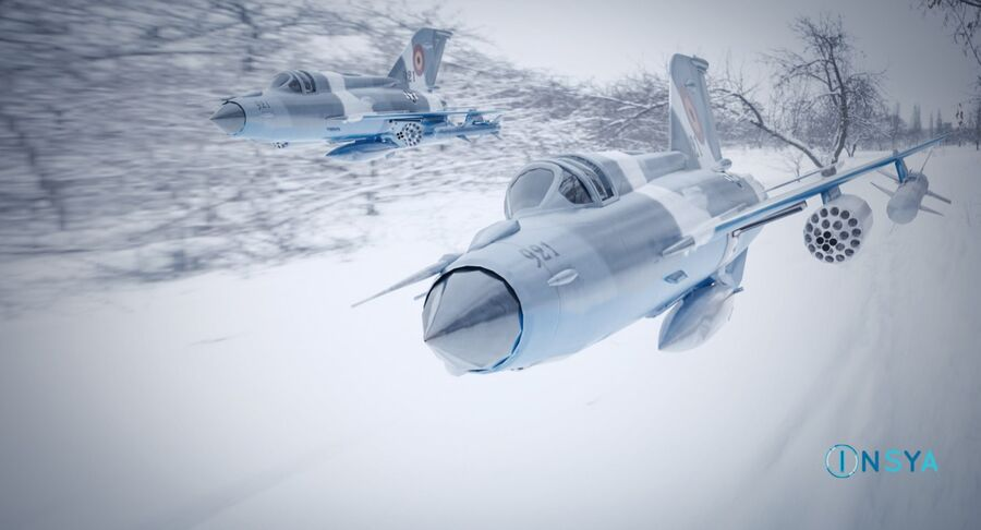 MiG 21-Rigged & Animated-인테리어 포함-M3 royalty-free 3d model - Preview no. 2