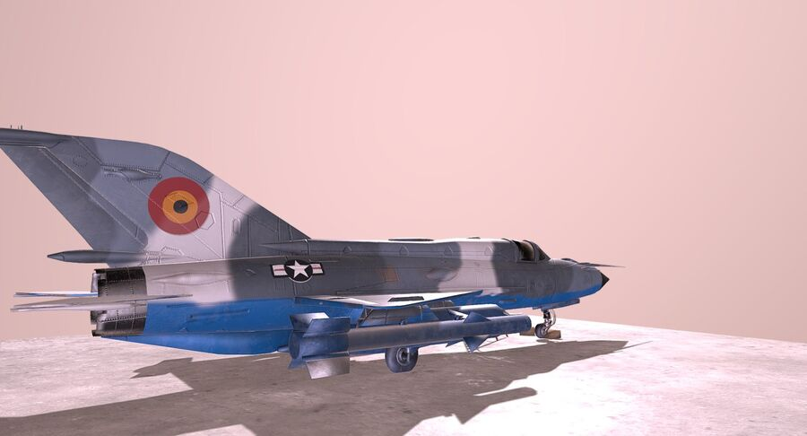 MiG 21-Rigged & Animated-인테리어 포함-M3 royalty-free 3d model - Preview no. 5