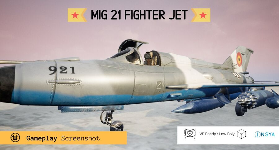 MiG 21-Rigged & Animated-인테리어 포함-M3 royalty-free 3d model - Preview no. 3