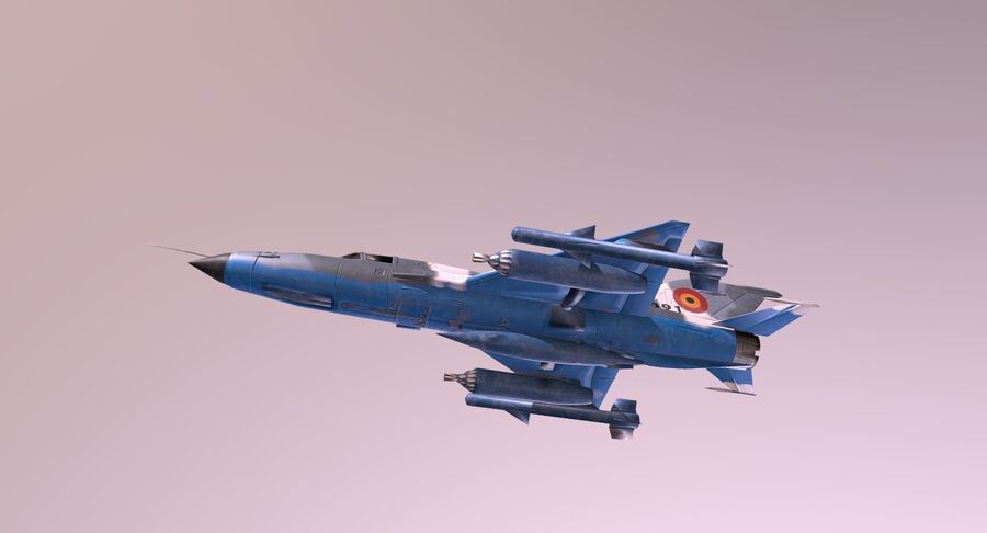MiG 21-Rigged & Animated-인테리어 포함-M3 royalty-free 3d model - Preview no. 6